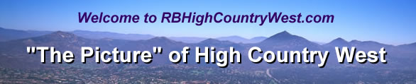 Welcome to RBHighCountryWest.com, The Picture of High Country West
